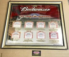 """Budweiser NFL Football American Traditions Label Mirror Beer Sign 27x22"""" New"""