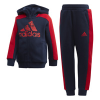 Adidas Kids Linear Tracksuit Running Graphic Hoodie Set Girls Sport Gym FK5876