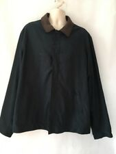 NAUTICA Men's Jacket Leather Collar Navy Blue Long Sleeves 2XL Pre-owned