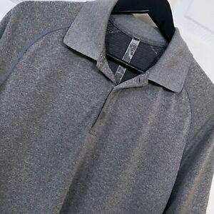 Lululemon S/S Performance Vent Tech Polo Shirt X-Static Men's Size M Grey