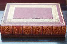 Antiquarian Wordsworth Poems Hardcover Leather Gilt Embossed Beautiful Volume NY