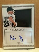 F1769  2014 Panini National Treasures Rookie Silhouette Auto Andrew Heaney /99