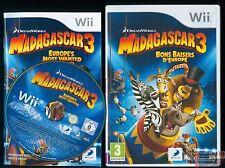 MADAGASCAR 3 SUR Wii JEU CONSOLE Wii COMPATIBLE WiiU COMPLET BE PAL FR