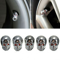 5x Universal Car Auto Skull Wheel Tire Tyre Stem Air Valve Caps Dust Cover