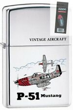 Zippo 250 p-51 mustang american ww2 airplane full size Lighter + FLINT PACK