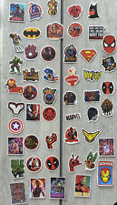 x50 Piece MARVEL DC Stickers Skateboard Luggage Laptop Car Phone Fast  Delivery