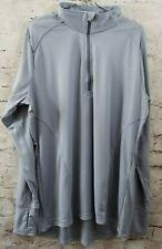 CHAMPION Vapor Tech Zip Neck Pullover Sweatshirt Gray Men's 2XL NWT