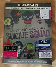 Brand New Suicide Squad 4K Ultra HD / Blu-ray Steelbook Bestbuy Exclusive