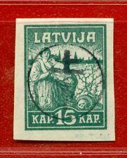 LATVIA LETTLAND RUSSIA OCCUPATION 15 KOPEKS 1919 SC. 2N10 218