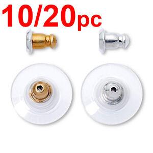 Earrings gold silver metal plug stud stoppers findings post back backs backing