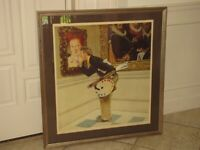 "NORMAN ROCKWELL ""Art Critic"" Pencil Signed Lithograph AP Artist's Proof Framed"