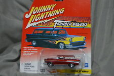 JOHNNY LIGHTNING THUNDER WAGONS 1957 CUSTOM CHEVY NOMAD RED
