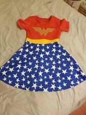 Wonder Woman Polyester Spandex Girls Dress Size 9/10 9 10 DC