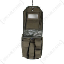 Verde Oliva Neceser - Ejército Militar Afeitado Colgante Toiletry CAMPING