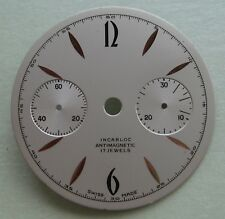 Watch Part White Dial 30.45 mm Genuine Vintage Incabloc Antimagnetic 17 Jewels