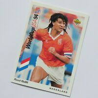 Ruud Gullit Upper Deck 1993 World Cup 94 USA #76 Holland Football  Sports Card