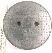 "Carson 10"" Round Irrigation Control Valve Locking Lid Green Cover Sprinkler HDPE"