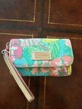 euc Lilly Pulitzer wallet purse clutch pocketbook pink blue green yellow