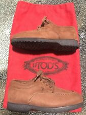 TOD'S JUNIOR Children's Shoes Brown Leather Euro 27 / US 10 Nubuck Boys