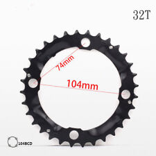 DECKAS 32T-52T 104BCD MTB Bike Chainring Narrow Wide Round Oval Chain Ring Bolts