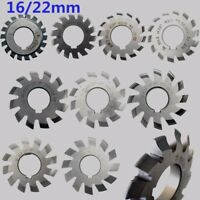 8pcs M0.5-M10 Diameter 16/22mm 20degree #1-8 Involute Gear Cutters HSS Module