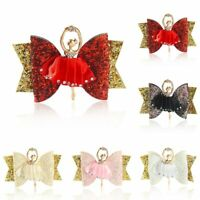 Ballerina Glitter Bow Sparkly Hair Clip Kids Girls Barrettes Women Hairpin