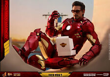 """Hot Toys Marvel Iron Man 2 Iron Man Mark IV Diecast 1/6 Scale 12"""" Figure In Hand"""