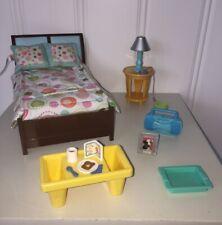 Fisher Price Loving Family Dollhouse Furniture LOT----Parent's Bedroom Set