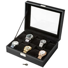 Coffret pour 10 montres boîte à montre boîtier rangement bijoux présentoir noir