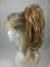 Brown Ponytail mixed w/tiny braids - Bonbon Hair Piece