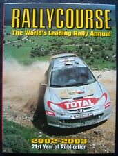 RALLYCOURSE 2002-2003 ANNUAL MOTORSPORT WRC CAR BOOK