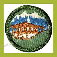 WORLD NEIGHBOR Jr Girl Scout Badge NEW 1960 Our Chalet Internatn'l Multi=1 Ship