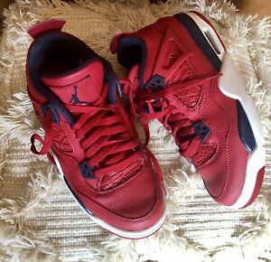 Size 7Y Air Jordan 4 Retro FIBA Sneakers