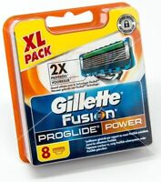 8PCS GENUINE GILLETTE FUSION PROGLIDE POWER SHAVING RAZORS CARTRIDGES BLADES TY