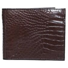 Fairy-Leather Genuine Crocodile Collection Craft Bifold Wallet Brown Purse -Hot!