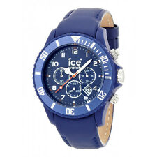 Ice Watch Men's CH.BE.B.L.11 Blue Chronograph Dial Leather Strap Quartz Watch