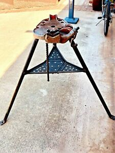 """RIDGID No 450 Tristand 1/8 to 5"""" Portable Chain Pipe Threading Vise Tripod Stand"""