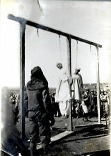 RARA GRANDE FOTO AOI RIBELLI ASCARI IMPICCATI CON BOIA AFRICA LIBIA BARCE  ftg5