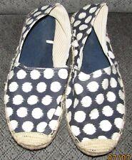 Women's Size 10 Gap Canvas Hemp Espadrilles Shoes Loafers Blue White Polka Dot