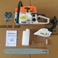 "22"" 52CC Gasoline Chainsaw Cutting Wood Gas Sawing Aluminum Crankcase Durable FS"