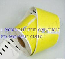 Etichette Adesivo per DYMO 99012 Giallo 89X36mm LABELWRITER 450 320 330 400 BL