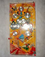 Vintage 1950's Mar Toys Tin Litho Bagatelle Pinball Game