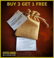 A LITTLE BAG OF FRIENDSHIP BIRTHDAY GIFT PRESENT BEST FRIEND THANK YOU KEEPSAKE