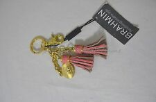 NWT Brahmin Leather Assorted Tassel Key Ring in Pink Color Beautiful Accessory