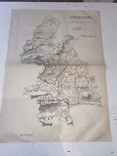 1885 County Tipperary Ireland Map Ordnance Survey Office Boundary Commissioner