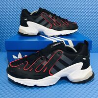 Adidas Original EQT Gazelle (Men's Size 8.5) Running Shoes Black Red Sneakers