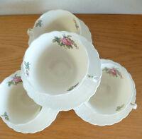 Copeland Spode Billingsley Rose Pink  Old Backstamp   4 Cup & Saucer Sets