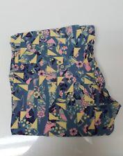 LuLaRoe OS Leggings Floral Flower Geometric Print One Size Womens Unicorn