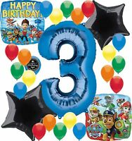 Paw Patrol Birthday Party Supplies Number Balloon Decoration Bundle For (3rd ...