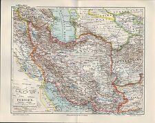 Landkarte map 1906: PERSIEN. Kaspisches Meer Afghanistan Hindukusch Belutschista
